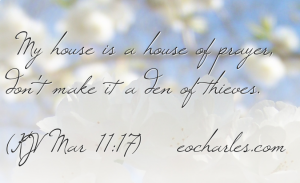 My house is to be called a house of prayer for all nations
