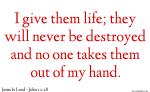 Jesus gives Eternal Life