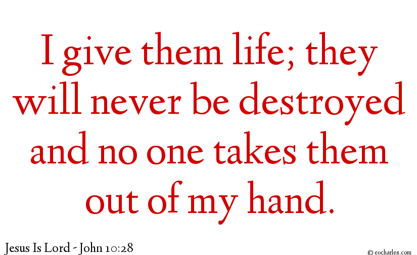 Jesus gives Eternal Life