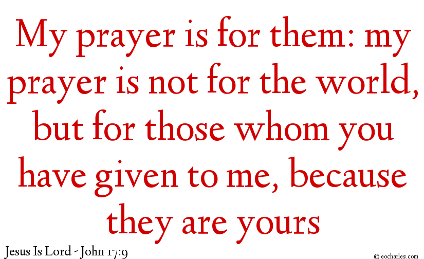 Jesus Only Intercedes For Those Who Are With Him.