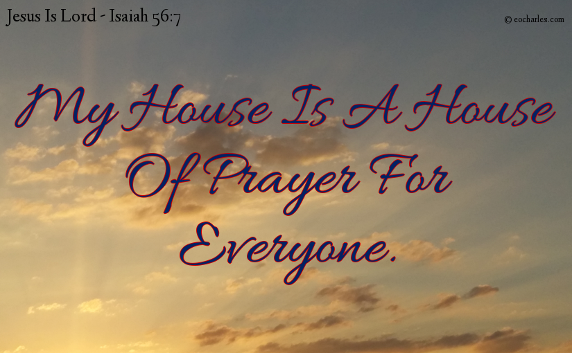 A house of prayer for everyone