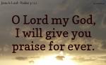Thanksgiving for deliverances