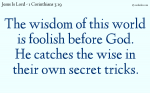 The wisdom of this world is foolishness before God