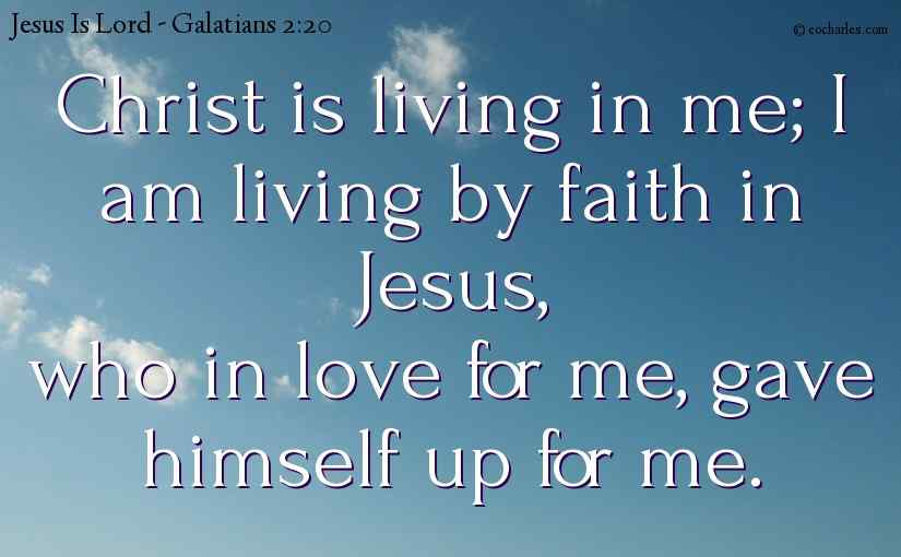 Christ is living in us.