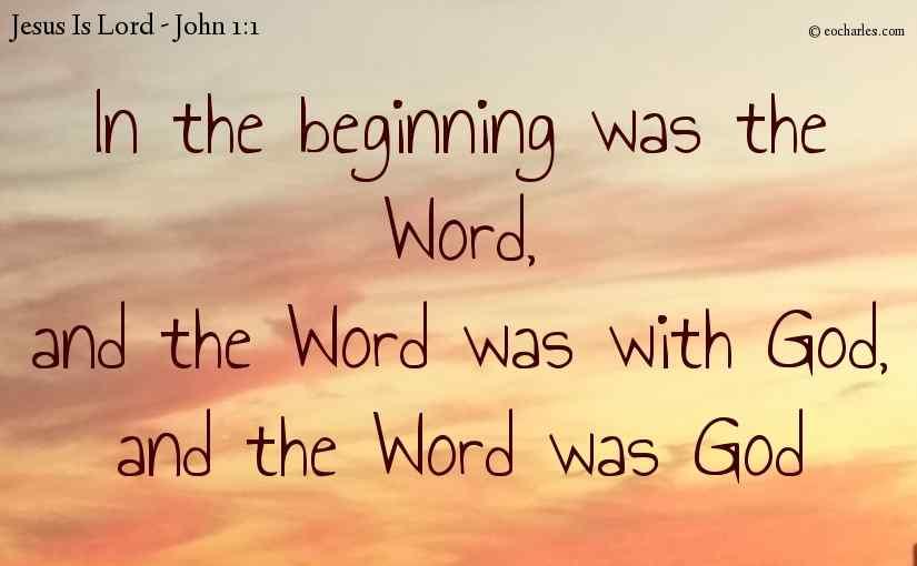 In the beginning was Jesus