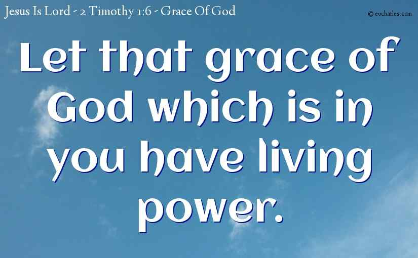 Let that grace of God which is in you have living power.