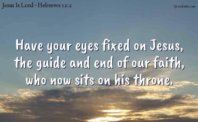 Jesus, the guide and end of our faith