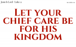 Trust in Jesus and be ready for the kingdom of God