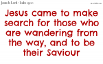 Jesus came to search for, and save that which was lost.