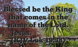 Blessed is the one who comes in the name of the Lord
