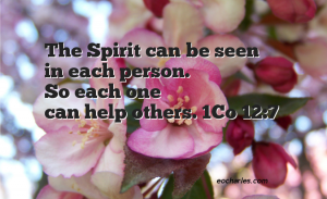 Spiritual Gifts Allow Us To Help Others.
