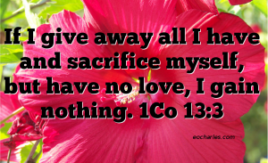 The Supremacy Of Love Over Giving And Offerings.