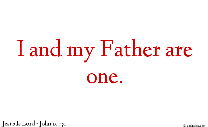 Jesus and Abba are One