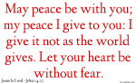 Jesus Gives Peace
