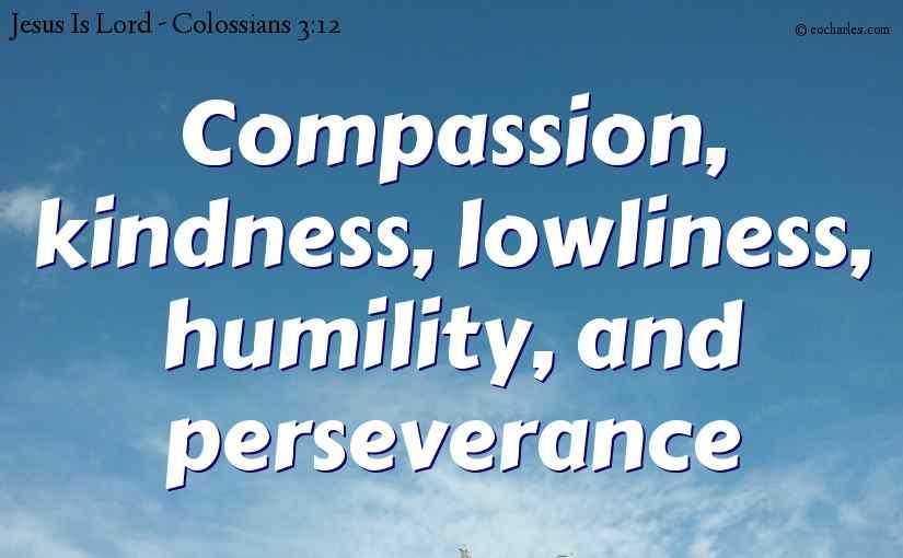 Mercy, kindness, humbleness, meekness and longsuffering