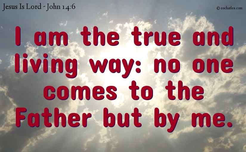 Jesus Is The True And Living Way.