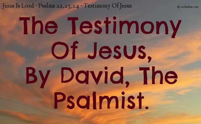 The Testimony Of Jesus, By David, The Psalmist.