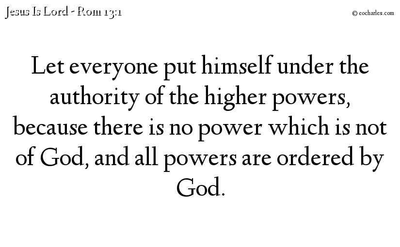 All Authority Is From God