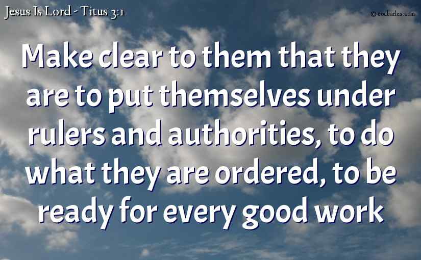 Titus 3 – Remind The People