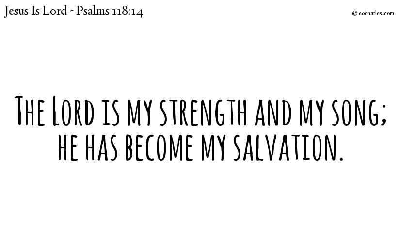 The Lord is my strength and my song; he has become my salvation.
