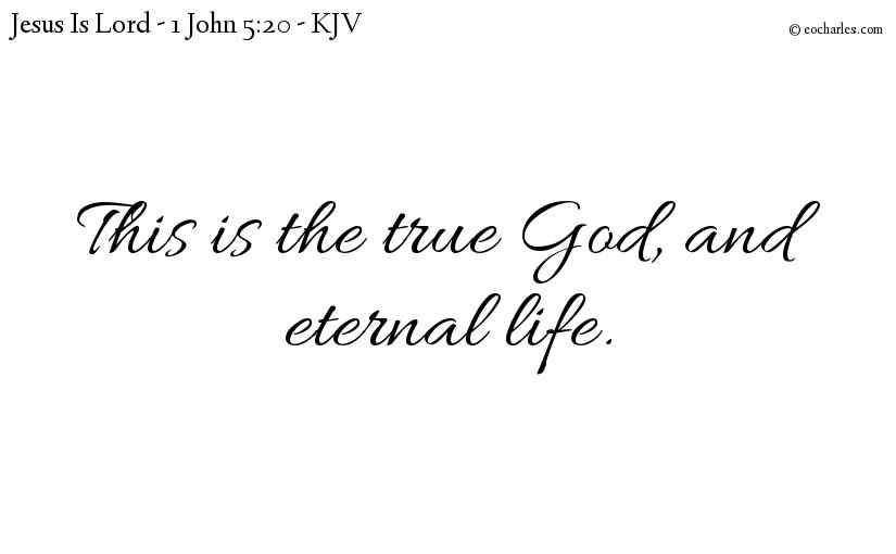 The True God, And Eternal Life