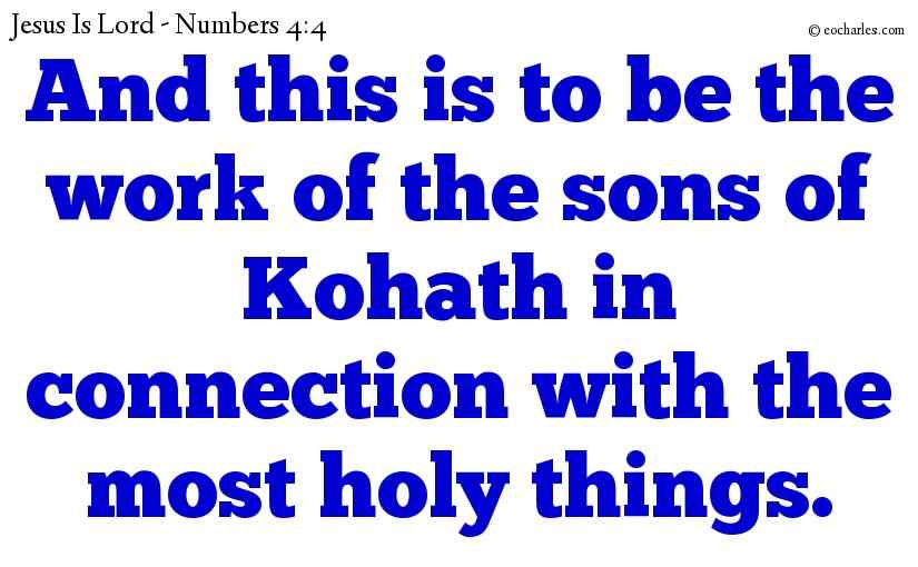 The servants of The Lord are given tasks that are important in the eyes of The Lord