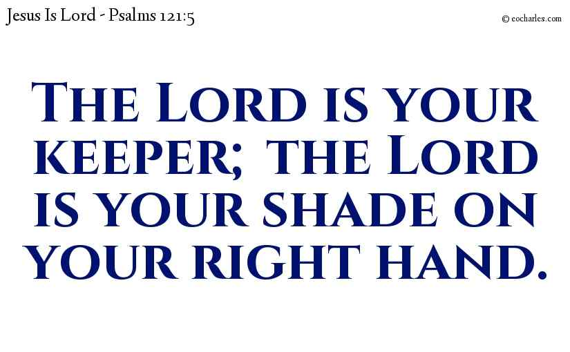 The Lord is your keeper; the Lord is your shade on your right hand.