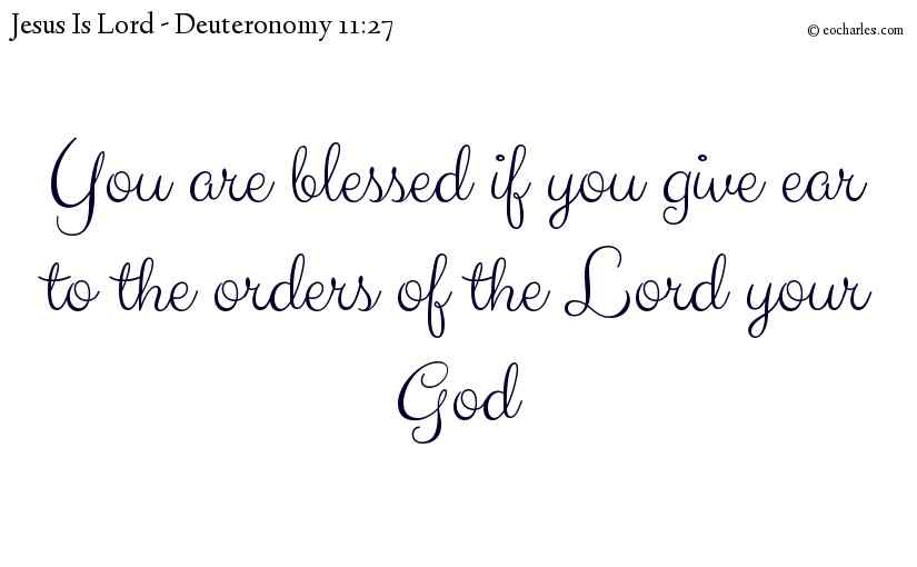 A Blessing for those who obey the Lord