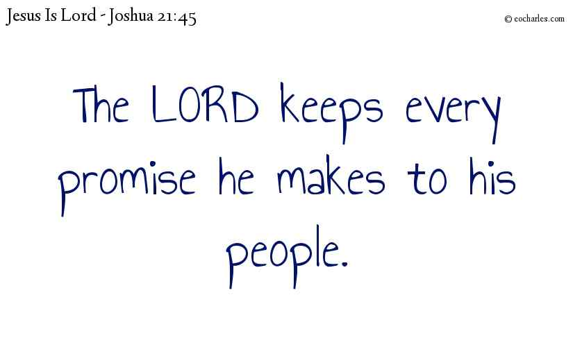 The LORD keeps every promise he makes to his people.
