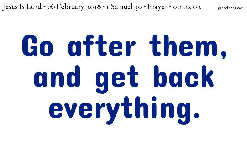 Get Everything Back Prayer