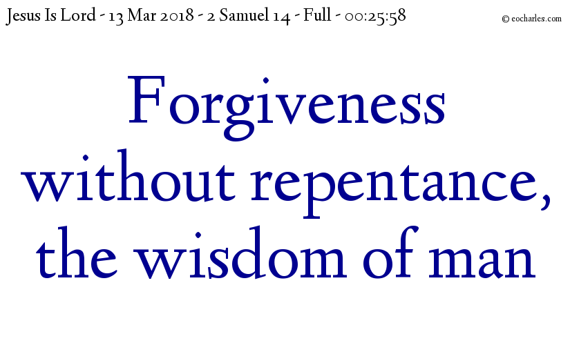 Forgiveness without repentance
