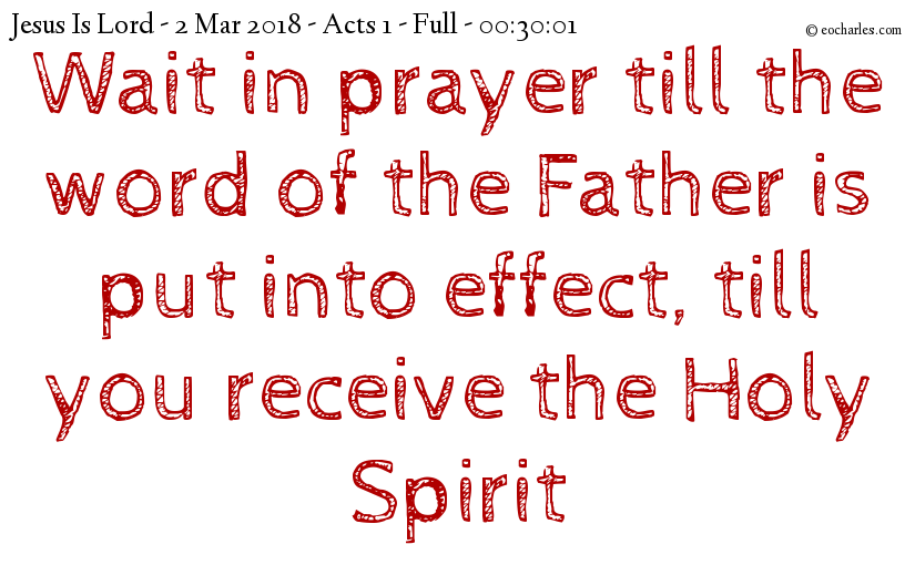 The Holy Spirit makes us powerful witnesses of Jesus