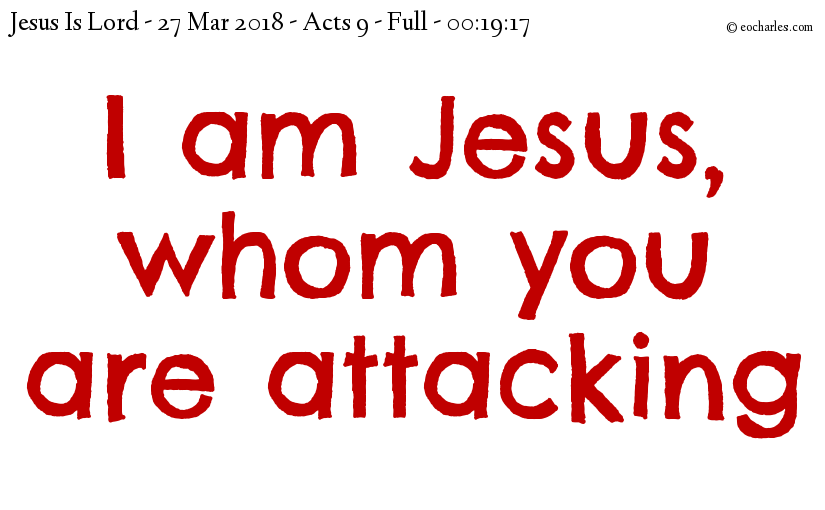 Attacker converted to disciple and apostle