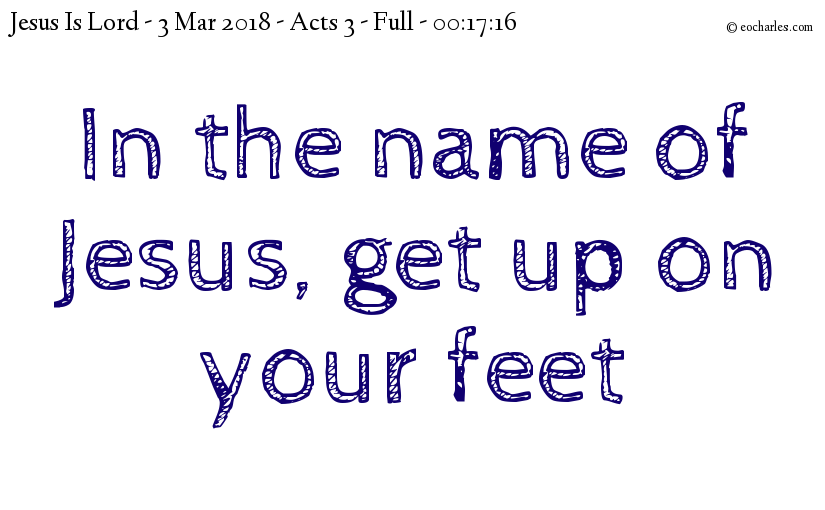 Get up in the name of Jesus!