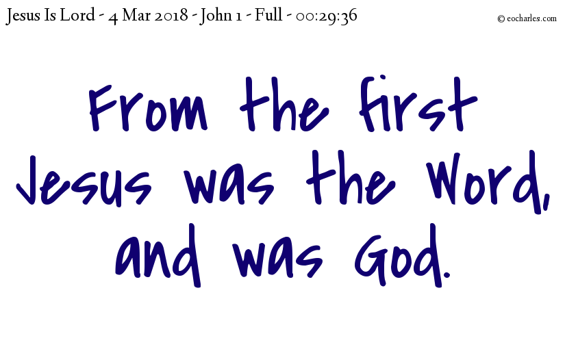 From the first Jesus was God