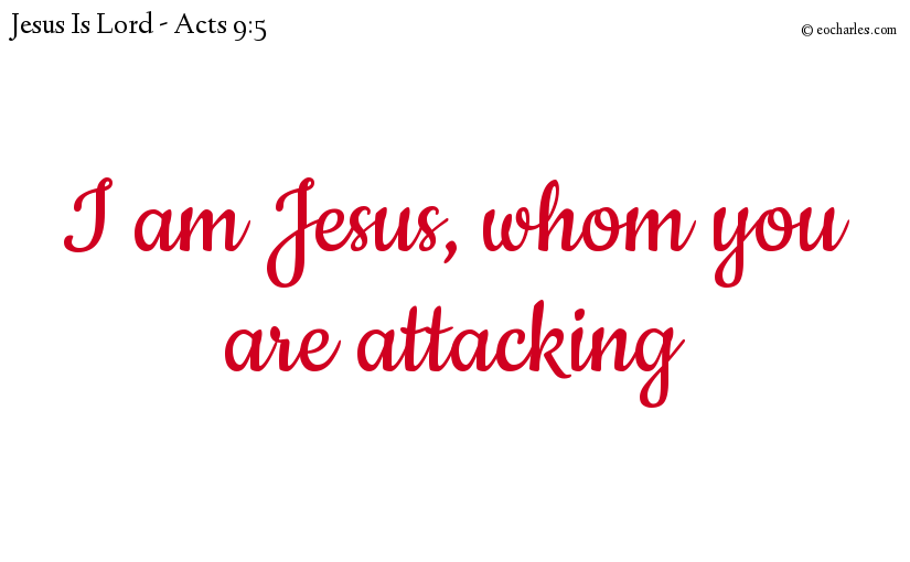 I am Jesus, whom you are attacking