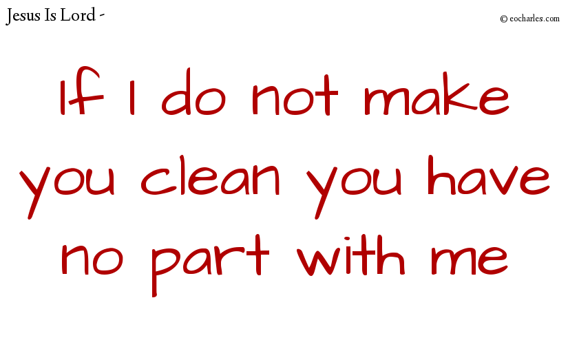 Humility: clean those who are under your care