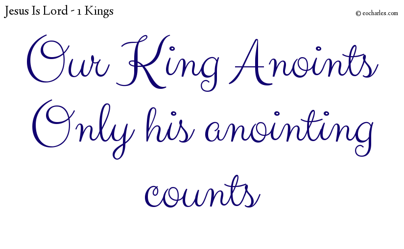 The anointing of men and the anointing of God