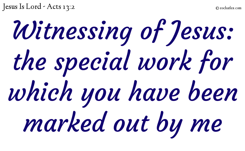 Be a witness of Jesus by the Holy Spirit