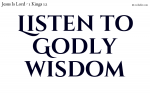 Listen to godly wisdom