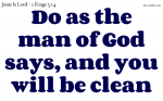 Made clean by the word of God