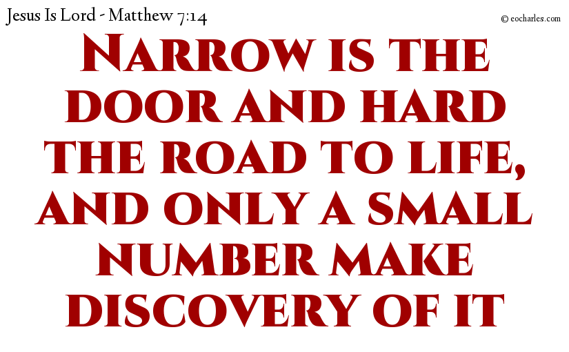 Go in by the narrow door