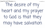 Salvation by the finished work of Jesus Christ