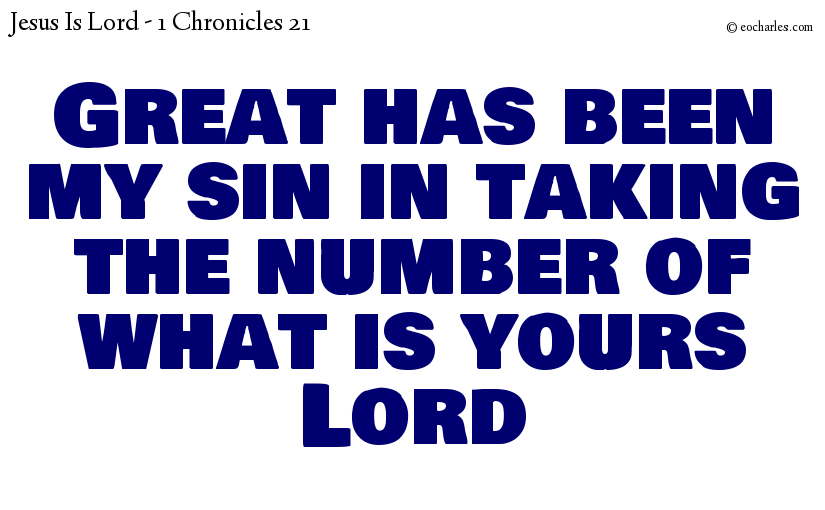 The sin of taking the number of the people of The Lord