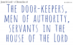 The ministry of the gatekeepers
