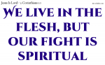 We live in the flesh, but our fight is spiritual.