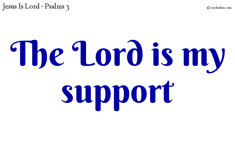 The Lord is my support