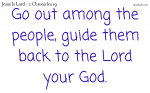 Turn back to the Lord your God