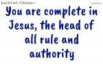 You are complete in Jesus