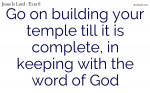 The temple is restored with the help of God